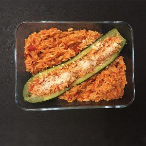 courgette farcie au riz
