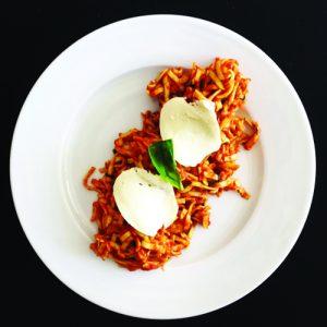 pates crevettes tomate basilic