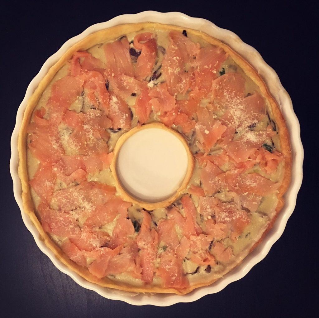 tarte au saumon courgettes