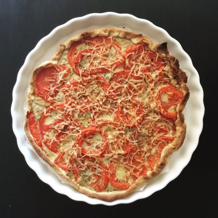tarte au thon et aux tomates