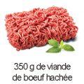 350 g viande boeuf hachée