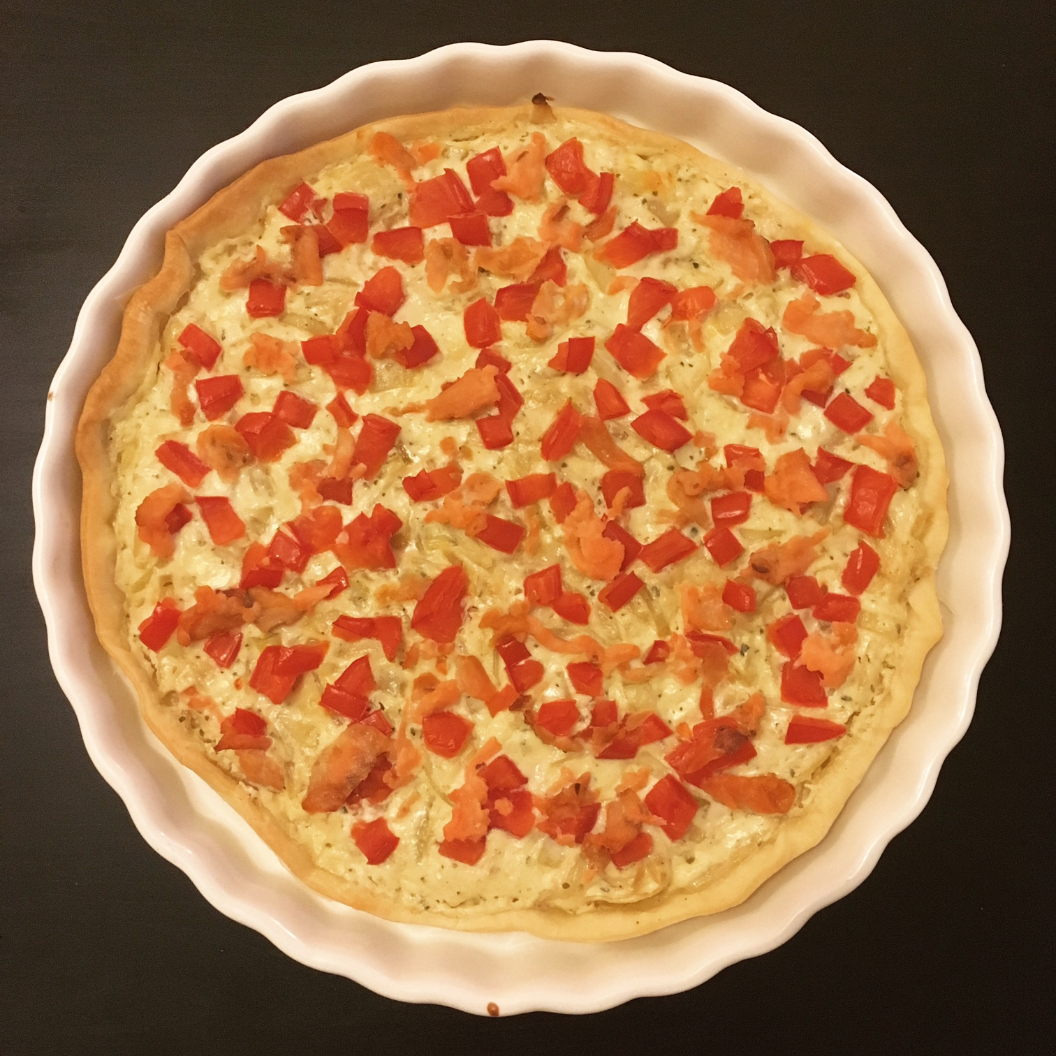 Pizza au saumon