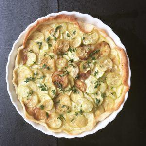 Tarte aux courgette et fromage ail et fines herbes