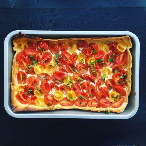 Tarte tomates-cerises