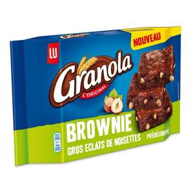 brownie aux noisettes granola packaging