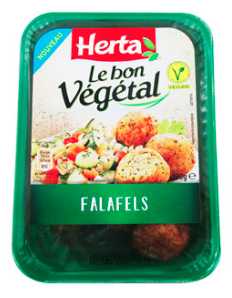 Falafels herta packaging