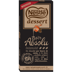 chocolat noir absolu nestlé packaging