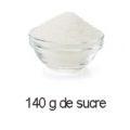 140 g de sucre