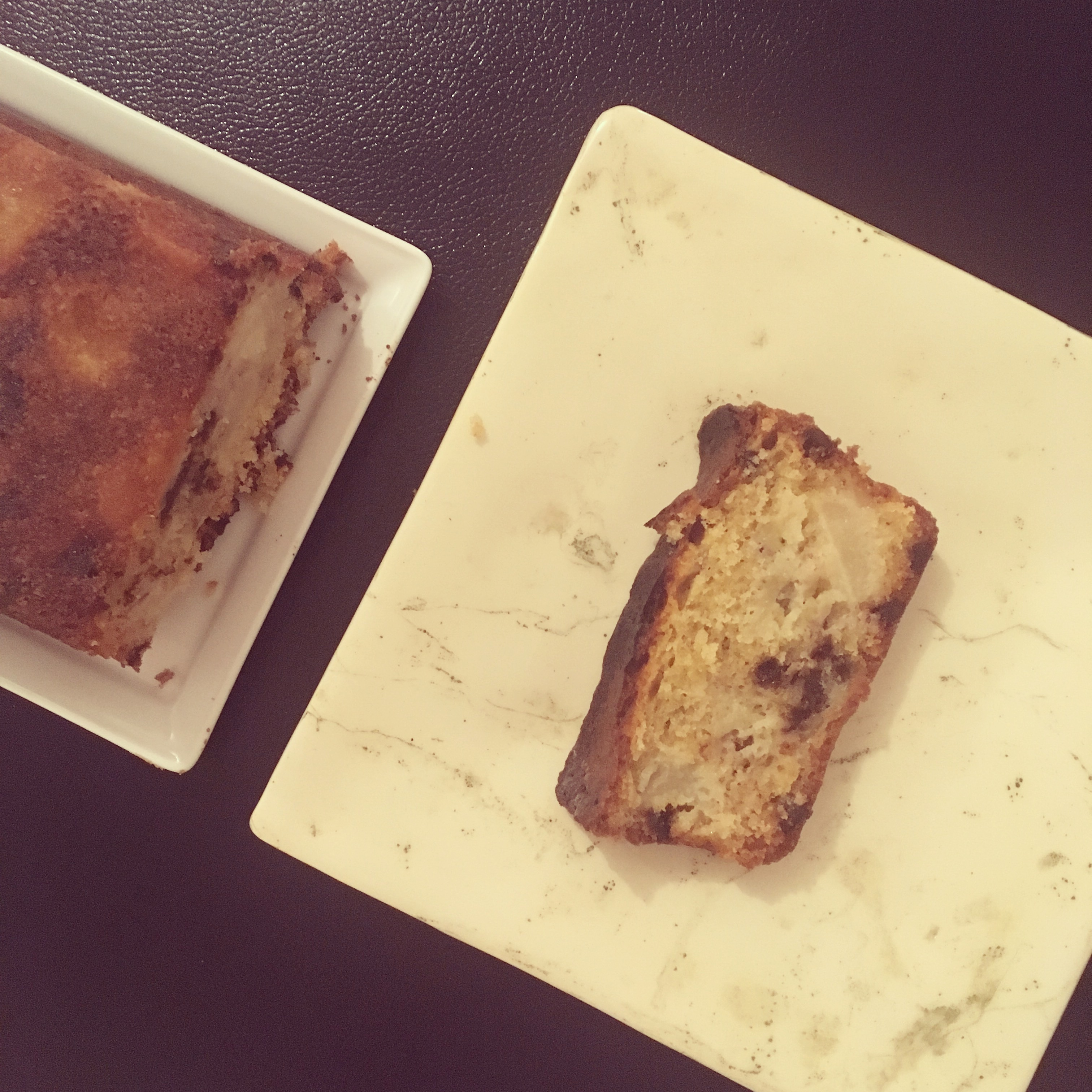 Cake poire banane chocolat