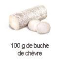 100 g buche de chevre