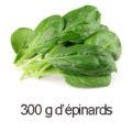 300 g d'epinards
