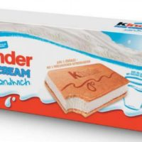 Glaces kinder sandwich