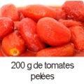 200 g de tomates pelées
