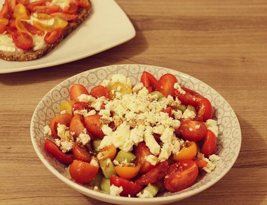 salade de concombres tomates cerises feta
