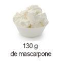 130 g de mascarpone