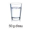 50 g d'eau