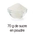 70 g sucre en poudre