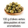 100 g olives vertes