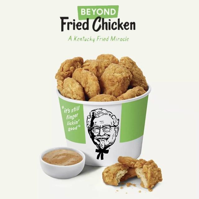 KFC nuggets sans poulet