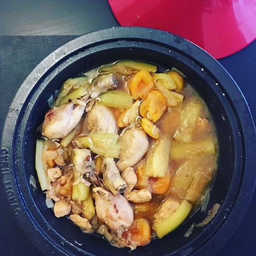 tajine au poulet et abricots secs