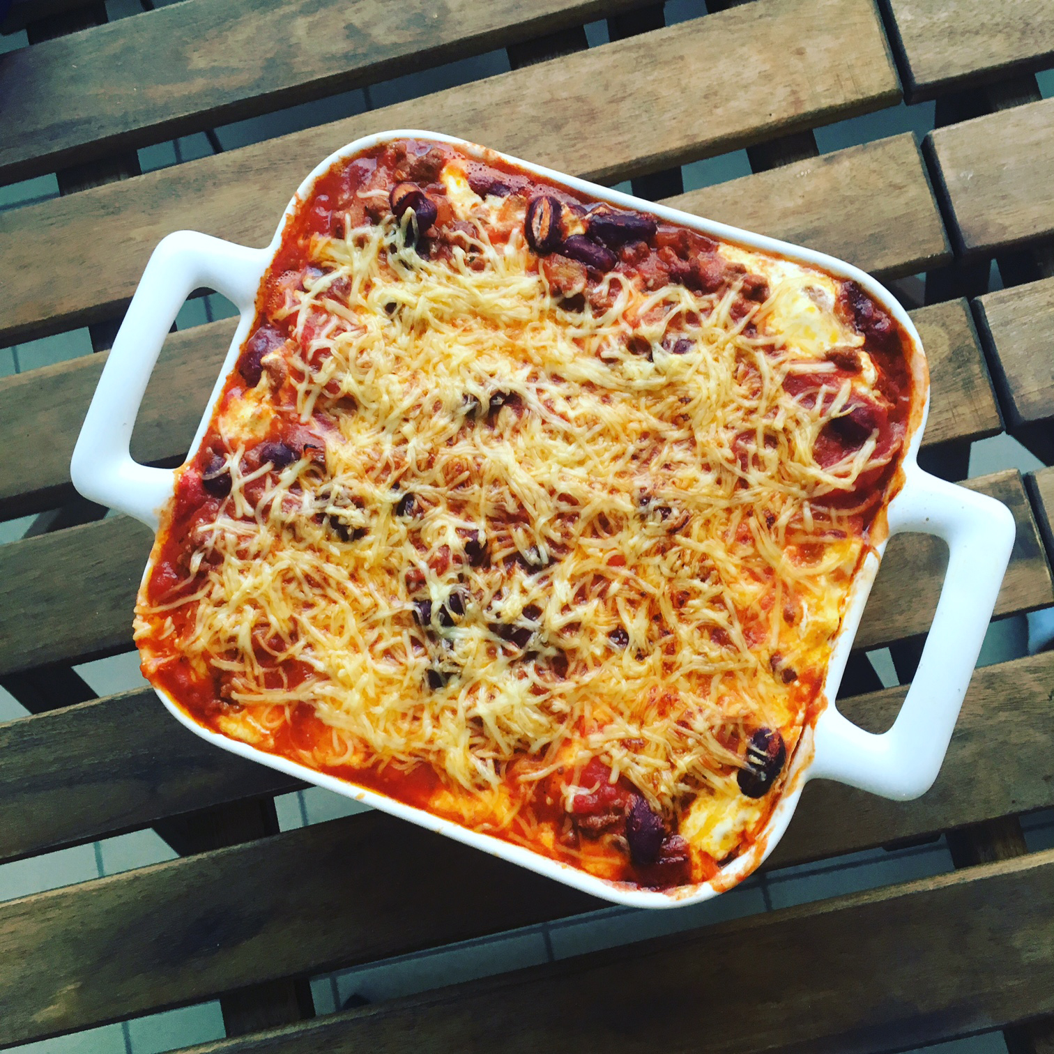 lasagnes façon chili con carne