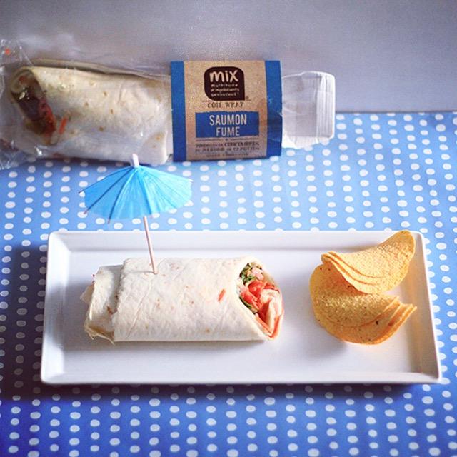 wrap saumon mix