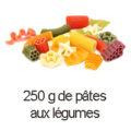 250 g pates aux legumes