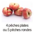 4 peches plates